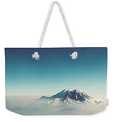 An Aerial View Of Mount Rainier Weekender Tote Bag