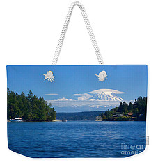Mount Rainier Lenticular Weekender Tote Bag