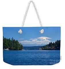 Mount Rainier Lenticular Weekender Tote Bag