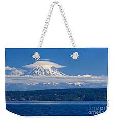 Mount Rainier Weekender Tote Bag by Sean Griffin