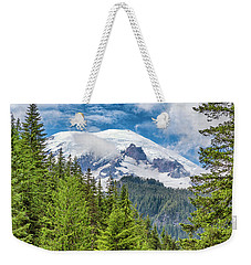 Weekender Tote Bag featuring the photograph Mount Rainier View by Stephen Stookey