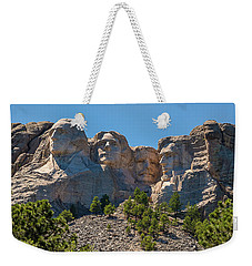 Weekender Tote Bag featuring the photograph Mount Rushmore South Dakota by Brenda Jacobs