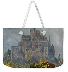 Weekender Tote Bag featuring the painting Mount Saint Michael by Rod Ismay