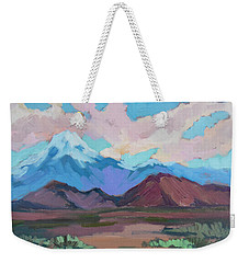 Weekender Tote Bag featuring the painting Mount San Gorgonio by Diane McClary
