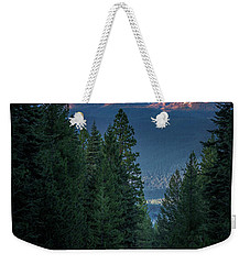 Mount Shasta - A Roadside View Weekender Tote Bag
