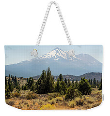 Weekender Tote Bag featuring the photograph Mount Shasta And Shastina by Frank Wilson