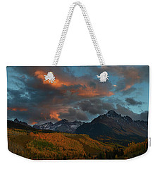 Mount Sneffels Sunset During Autumn In Colorado Weekender Tote Bag