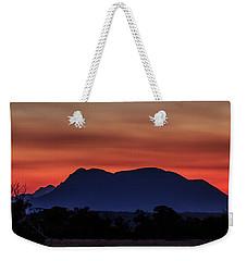 Mount Trio Sunset Weekender Tote Bag