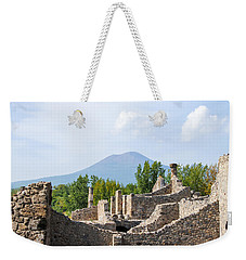 Mount Vesuvius Beyond The Ruins Of Pompei Weekender Tote Bag