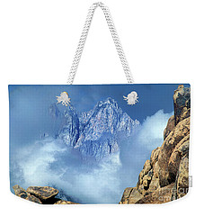 Weekender Tote Bag featuring the photograph Mount Whitney Clearing Storm Eastern Sierras California by Dave Welling