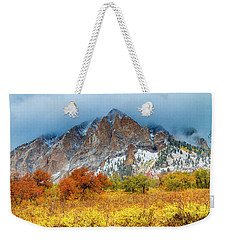 Mountain Autumn Color Weekender Tote Bag by Teri Virbickis