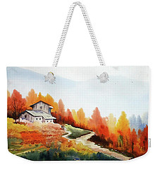 Mountain Autumn Forest Weekender Tote Bag