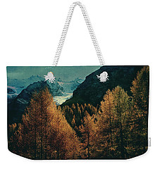 Mountain Autumn Weekender Tote Bag