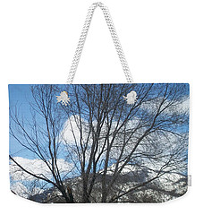 Mountain Backdrop Weekender Tote Bag