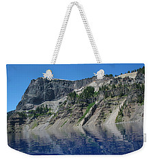 Weekender Tote Bag featuring the photograph Mountain Blue by Laddie Halupa