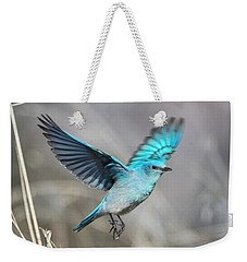 Mountain Blue Weekender Tote Bag