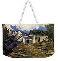 Mountain Cabin Weekender Tote Bag