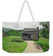 Mountain Cabin Weekender Tote Bag by Jimmie Bartlett