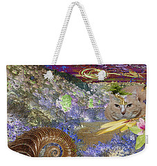Mountain Cat Weekender Tote Bag