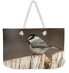 Mountain Chickadee Weekender Tote Bag