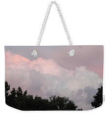 Weekender Tote Bag featuring the photograph Mountain Clouds 2 by Don Koester