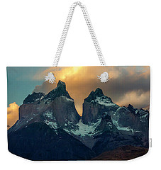 Weekender Tote Bag featuring the photograph Mountain Evening by Andrew Matwijec