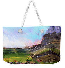 Mountain Fenceline Weekender Tote Bag