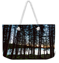 Weekender Tote Bag featuring the photograph Mountain Forest Lake by James BO Insogna