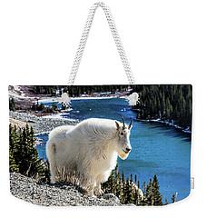 Mountain Goat At Lower Blue Lake Weekender Tote Bag