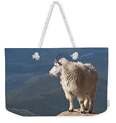 Weekender Tote Bag featuring the photograph Mountain Goat by Gary Lengyel