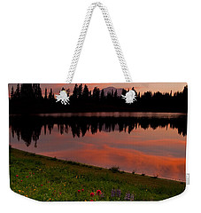 Mountain Heather Reflections Weekender Tote Bag