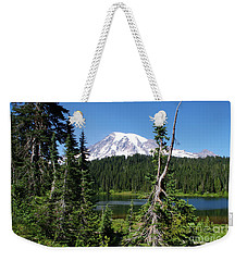 Mountain Lake And Mount Rainier Weekender Tote Bag