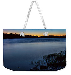 Weekender Tote Bag featuring the photograph Mountain Lake Glow by James BO Insogna