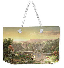Mountain Lake Near Piedmont Weekender Tote Bag by William Sonntag