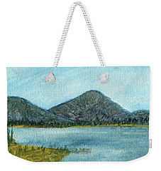 Mountain Lake Weekender Tote Bag by R Kyllo