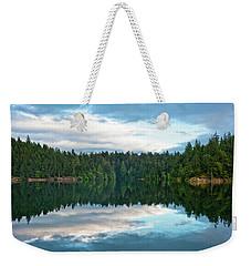 Mountain Lake Reflection Weekender Tote Bag