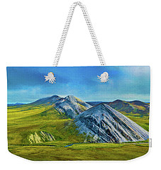 Mountain Landscape Digital Art Weekender Tote Bag