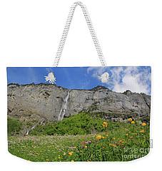 Mountain Landscape, Spring, Switzerland Weekender Tote Bag