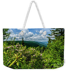 Weekender Tote Bag featuring the photograph Mountain Laurel And Ridges by Thomas R Fletcher