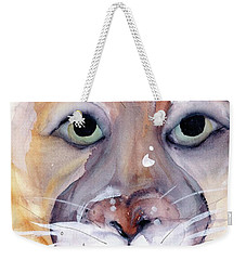 Weekender Tote Bag featuring the painting Mountain Lion by Dawn Derman