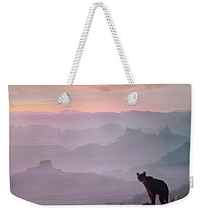 Mountain Lion Weekender Tote Bag by Tim Fitzharris