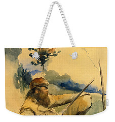 Mountain Man Weekender Tote Bag by Charles Schreyvogel