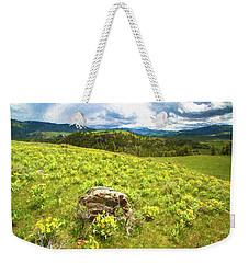 Mountain Meadow Impressionist Digital Art Weekender Tote Bag