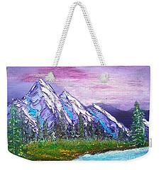 Mountain Meadow Landscape Scene Weekender Tote Bag