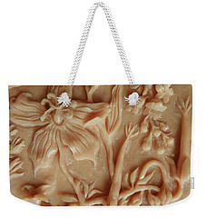 Mountain Meadow Original Clay Relief - Geranium Detail Weekender Tote Bag
