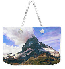 Weekender Tote Bag featuring the photograph Mountain Of Mountains  by Connie Handscomb