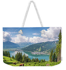 Mountain Panorama Beauty Weekender Tote Bag by JR Photography