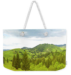 Mountain Panorama In Bucovina County - Romania Weekender Tote Bag