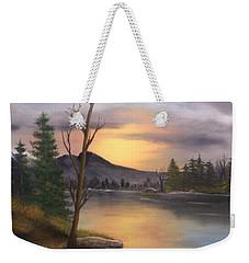 Mountain Paradise Weekender Tote Bag