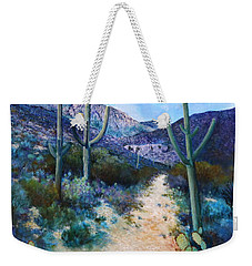 Mountain Path Acrylic Weekender Tote Bag by M Diane Bonaparte